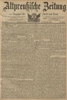 Altpreussische Zeitung, Nr. 268 Dienstag 15 November 1892, 44. Jahrgang