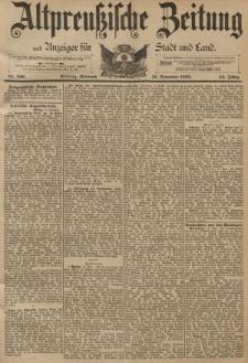 Altpreussische Zeitung, Nr. 269 Mittwoch 16 November 1892, 44. Jahrgang