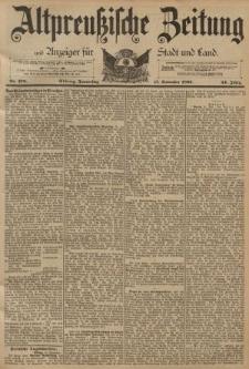 Altpreussische Zeitung, Nr. 270 Donnerstag 17 November 1892, 44. Jahrgang