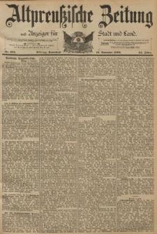 Altpreussische Zeitung, Nr. 272 Sonnabend 19 November 1892, 44. Jahrgang