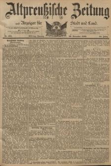 Altpreussische Zeitung, Nr. 273 Sonntag 20 November 1892, 44. Jahrgang