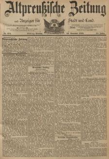 Altpreussische Zeitung, Nr. 274 Dienstag 22 November 1892, 44. Jahrgang