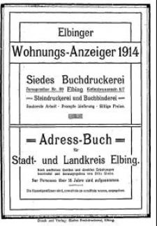 Elbinger Wohnungs-Anzeiger 1914