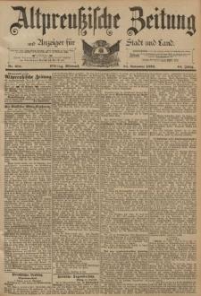 Altpreussische Zeitung, Nr. 275 Mittwoch 23 November 1892, 44. Jahrgang