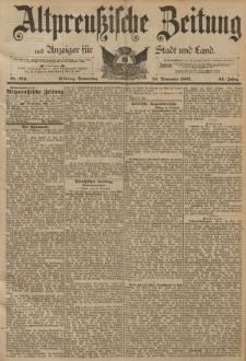 Altpreussische Zeitung, Nr. 276 Donnerstag 24 November 1892, 44. Jahrgang