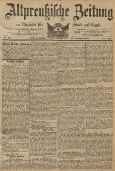 Altpreussische Zeitung, Nr. 277 Freitag 25 November 1892, 44. Jahrgang