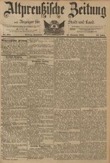 Altpreussische Zeitung, Nr. 278 Sonnabend 26 November 1892, 44. Jahrgang