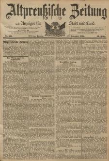 Altpreussische Zeitung, Nr. 279 Sonntag 27 November 1892, 44. Jahrgang