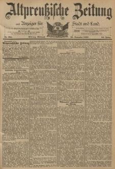 Altpreussische Zeitung, Nr. 281 Mittwoch 30 November 1892, 44. Jahrgang