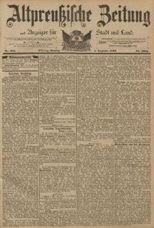 Altpreussische Zeitung, Nr. 285 Sonntag 4 Dezember 1892, 44. Jahrgang