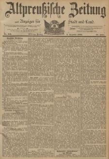 Altpreussische Zeitung, Nr. 289 Freitag 9 Dezember 1892, 44. Jahrgang