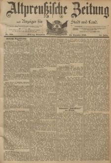 Altpreussische Zeitung, Nr. 290 Sonnabend 10 Dezember 1892, 44. Jahrgang