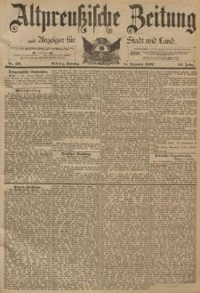 Altpreussische Zeitung, Nr. 291 Sonntag 11 Dezember 1892, 44. Jahrgang
