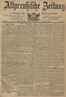 Altpreussische Zeitung, Nr. 292 Dienstag 13 Dezember 1892, 44. Jahrgang