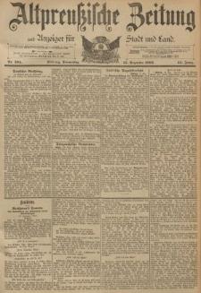 Altpreussische Zeitung, Nr. 294 Donnerstag 15 Dezember 1892, 44. Jahrgang