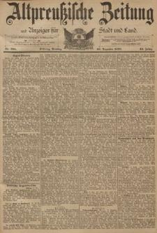 Altpreussische Zeitung, Nr. 298 Dienstag 20 Dezember 1892, 44. Jahrgang