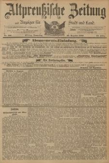 Altpreussische Zeitung, Nr. 300 Donnerstag 22 Dezember 1892, 44. Jahrgang