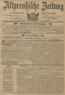 Altpreussische Zeitung, Nr. 303 Sonntag 25 Dezember 1892, 44. Jahrgang