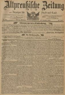 Altpreussische Zeitung, Nr. 304 Mittwoch 28 Dezember 1892, 44. Jahrgang
