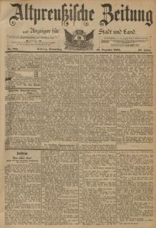 Altpreussische Zeitung, Nr. 305 Donnerstag 29 Dezember 1892, 44. Jahrgang