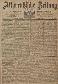 Altpreussische Zeitung, Nr. 2 Donnerstag 4 Januar 1894, 46. Jahrgang