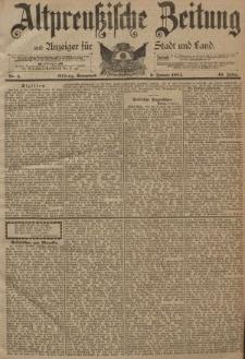 Altpreussische Zeitung, Nr. 4 Sonnabend 6 Januar 1894, 46. Jahrgang