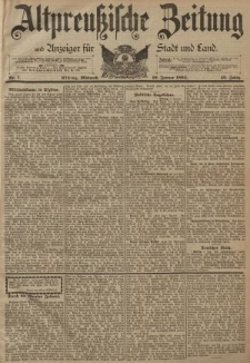 Altpreussische Zeitung, Nr. 7 Mittwoch 10 Januar 1894, 46. Jahrgang