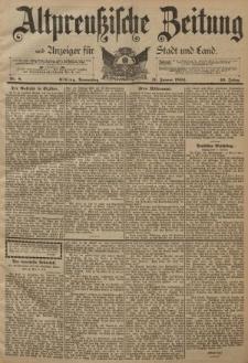 Altpreussische Zeitung, Nr. 8 Donnerstag 11 Januar 1894, 46. Jahrgang