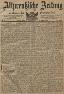 Altpreussische Zeitung, Nr. 9 Freitag 12 Januar 1894, 46. Jahrgang