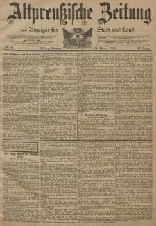 Altpreussische Zeitung, Nr. 11 Sonntag 14 Januar 1894, 46. Jahrgang