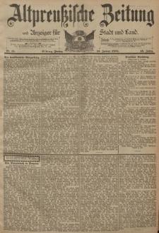 Altpreussische Zeitung, Nr. 15 Freitag 19 Januar 1894, 46. Jahrgang