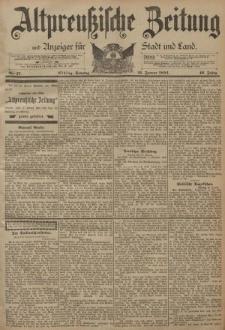 Altpreussische Zeitung, Nr. 17 Sonntag 21 Januar 1894, 46. Jahrgang