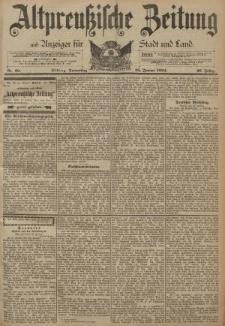 Altpreussische Zeitung, Nr. 20 Donnerstag 25 Januar 1894, 46. Jahrgang