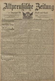 Altpreussische Zeitung, Nr. 23 Sonntag 28 Januar 1894, 46. Jahrgang