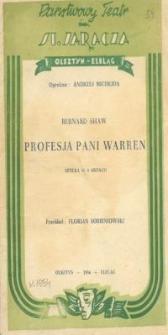 Profesja pani Warren - program teatralny