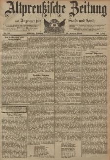 Altpreussische Zeitung, Nr. 36 Dienstag 13 Februar 1894, 46. Jahrgang