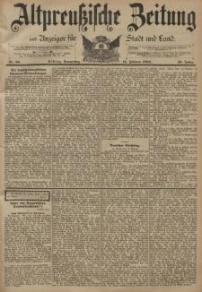 Altpreussische Zeitung, Nr. 38 Donnerstag 15 Februar 1894, 46. Jahrgang