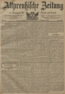 Altpreussische Zeitung, Nr. 41 Sonntag 18 Februar 1894, 46. Jahrgang