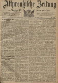 Altpreussische Zeitung, Nr. 58 Sonnabend 10 März 1894, 46. Jahrgang