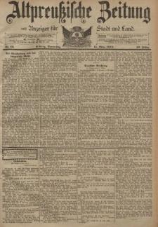 Altpreussische Zeitung, Nr. 62 Donnerstag 15 März 1894, 46. Jahrgang