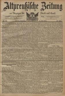 Altpreussische Zeitung, Nr. 124 Donnerstag 31 Mai 1894, 46. Jahrgang