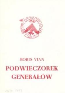 Podwieczorek generałów (Le gouter des generaux) - program teatralny