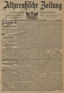 Altpreussische Zeitung, Nr. 142 Donnerstag 21 Juni 1894, 46. Jahrgang