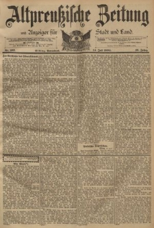Altpreussische Zeitung, Nr. 162 Sonnabend 14 Juli 1894, 46. Jahrgang