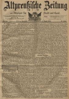 Altpreussische Zeitung, Nr. 180 Sonnabend 4 August 1894, 46. Jahrgang