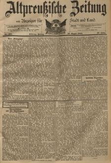 Altpreussische Zeitung, Nr. 185 Freitag 10 August 1894, 46. Jahrgang