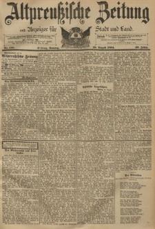 Altpreussische Zeitung, Nr. 199 Sonntag 26 August 1894, 46. Jahrgang