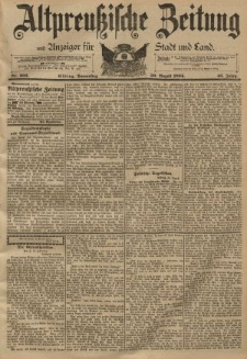 Altpreussische Zeitung, Nr. 202 Donnerstag 30 August 1894, 46. Jahrgang