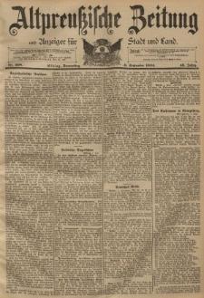 Altpreussische Zeitung, Nr. 208 Donnerstag 6 September 1894, 46. Jahrgang