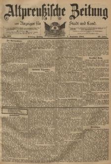Altpreussische Zeitung, Nr. 209 Freitag 7 September 1894, 46. Jahrgang